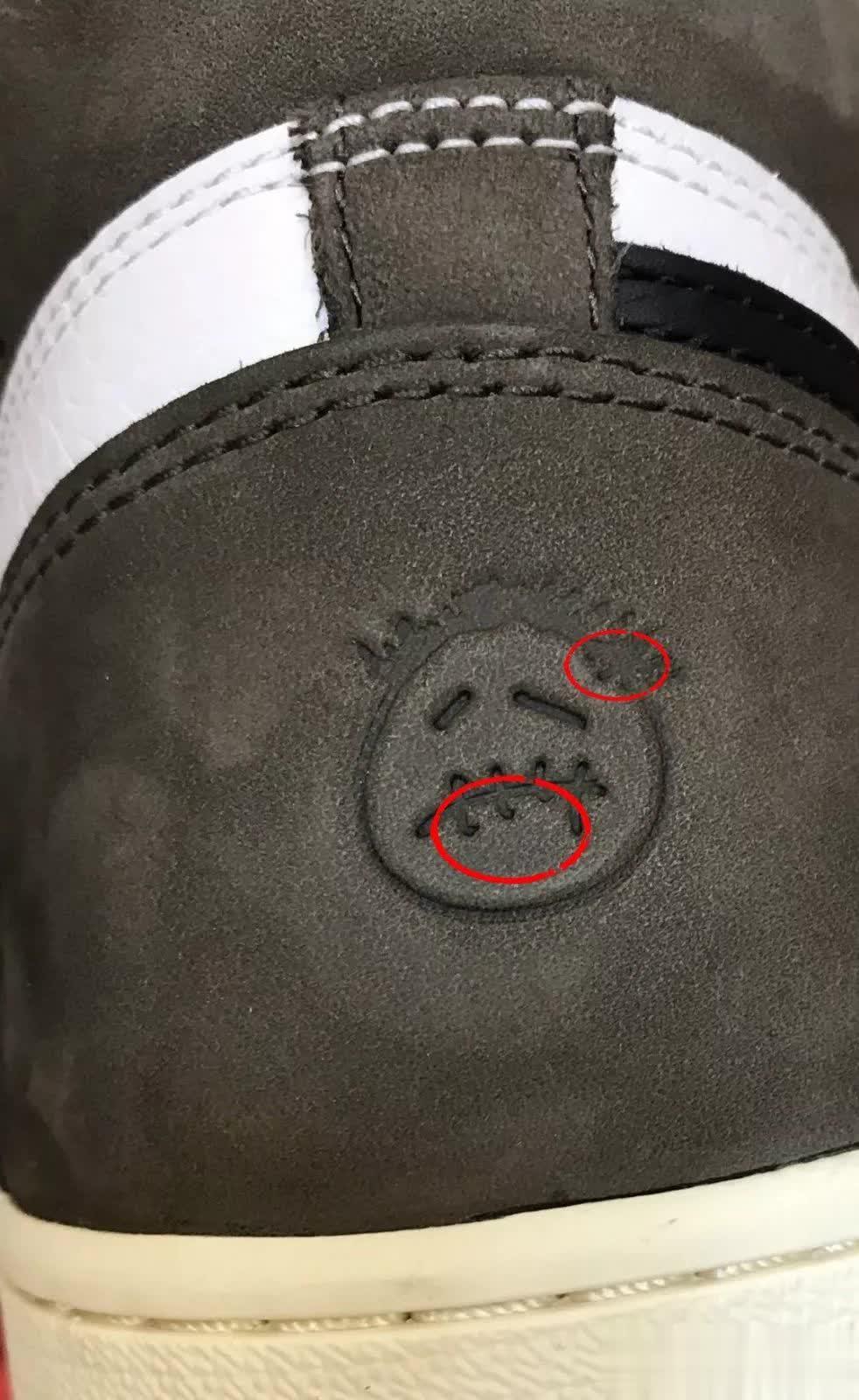 AJ1倒钩莆田鞋各版本真假对比