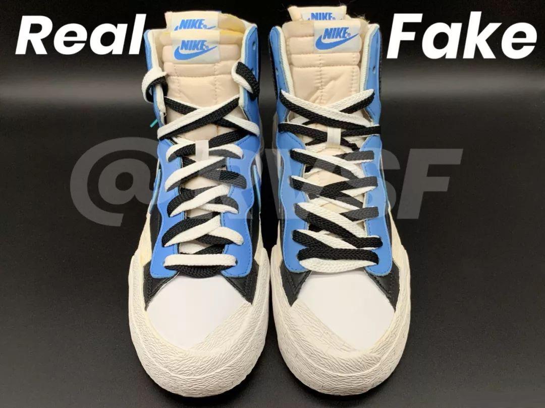 Sacai x Nike Blazer Mid SACAI联名开拓者真假对比