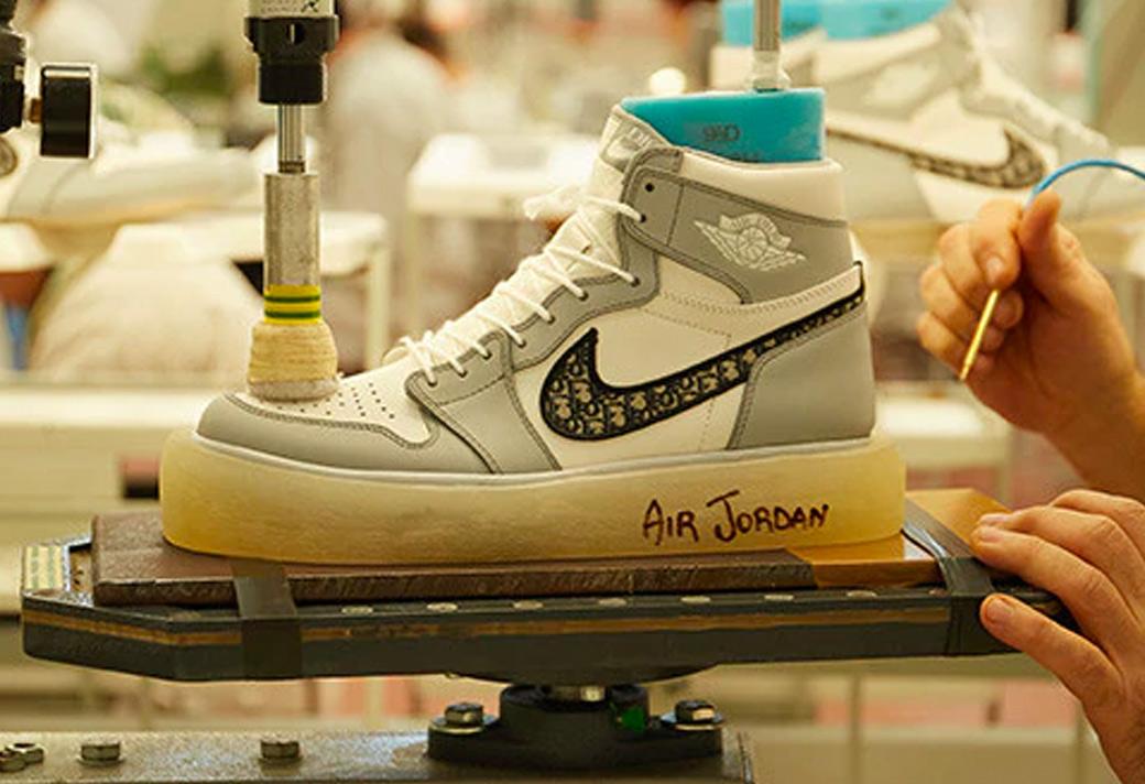 AJ1 x Dior 大迪奥联名真假对比细节评测