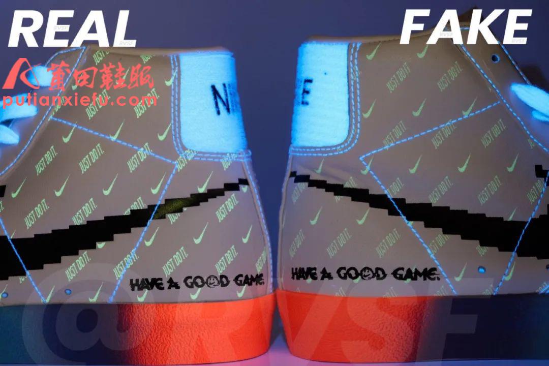 Nike Blazer Mid电玩像素 英雄联盟真假对比 鉴定