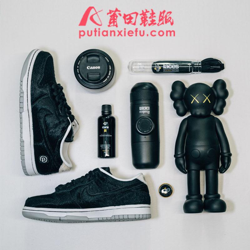 Medicom Toy x Nike SB Dunk 积木熊 真假对比