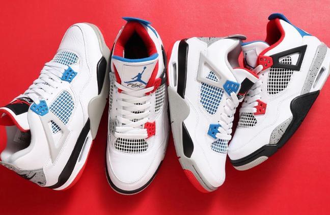 "Air Jordan 4 Retro""What The""红蓝鸳鸯 真假对比"