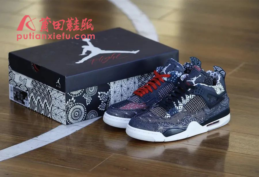 "AJ4刺子绣怎么辨别? Air Jordan 4""Sashiko""真假对比"