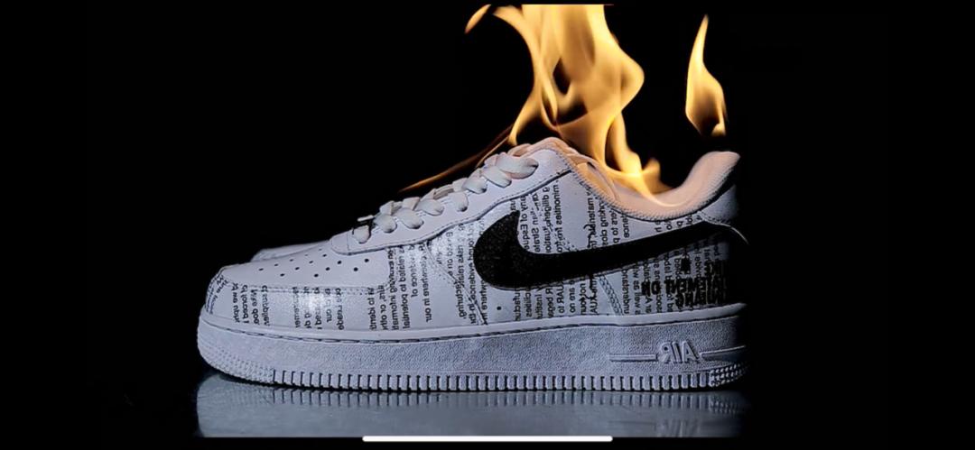 燃炸! 有人烧了一双莆田鞋寄给Nike总部! 这波我先瑞思拜!